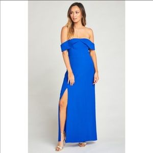 Show me your mumu Upton off shoulder maxi …